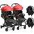 Carrinho de Gemeos Galzerano Duolee 2 Bebe Conforto Vermelho - Imagem 1
