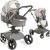 Carrinho Moises Dzieco Vulkan 360º com Bebe Conforto Cinza - Imagem 2