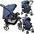 Carrinho de Bebe Burigotto Rio K com Ninho Moises Azul - Imagem 2