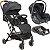 Carrinho de Bebe com Bebe Conforto e Base Kiddo Sprint Preto - Imagem 1