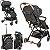 Carrinho de Bebe com Bebe Conforto e Base Kiddo Sprint Preto - Imagem 4