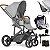 Carrinho Bebe Conforto Base ABC Design Merano 4 Woven Grey - Imagem 1