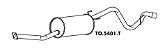 Silencioso Hilux 2.5 / 2.8 / 3.0 Diesel 4X2 / 4X4 Cabine Dupla 92 A 2005 Traseiro - Imagem 1