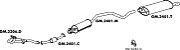 Silencioso Astra Hatch 2.0 95 Até 97 Importado Traseiro - Imagem 2