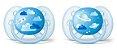 Chupeta Ultra Soft 6-18m 2 un - Azul - Philips Avent - Imagem 1