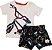 Conjunto Infantil Masculino Camiseta + Bermuda - Branco/Marinho - Puc - Imagem 1