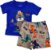 Conjunto Infantil Masculino Camiseta + Bermuda - Azul/Cinza - Zig Zag Zaa - Imagem 1