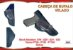 Coldre Velado P Pistola - Glock G19 - G20 - G21 - G22 e Taurus PT59 - PT92 - PT100 - Corrugado Cabeça de Bufalo - Imagem 1