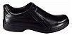 Sapato Masculino Pegada Sem Cadarço Couro 21206 Preto Cd 313 - Imagem 2