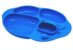 Prato de Silicone com Divisórias e Sucção Hipopótamo - Marcus & Marcus - Imagem 1