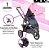 Carrinho de Bebê ABC Design - Salsa 3 Rose com Moises - Imagem 2