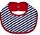 Babador Oval Listra Azul e Branca - Imagem 1