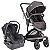 Carrinho de Bebê Travel System Quantum Kiddo Melange Preto + Base - Imagem 1