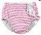 Fraldinha de Banho Calcinha Listras Rosa  6-12 Meses + FPS 50 - Imagem 1