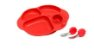 Kit para Alimentação com 4 Divisórias Leão Vermelho - Imagem 1