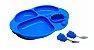 Kit para Alimentação com 4 Divisórias Hipopótamo Azul - Imagem 1