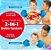 Boia Colete Infantil Salva Vidas Crianças Praia 2 In 1 Azul e Vermelho- Swim School - Imagem 2