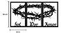 Foi Por Amor Coroa De Espinhos Escultura Parede Kit 3 Partes - Imagem 3