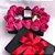 Caixa com flores e chocolate - Imagem 1