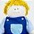 Boneco de pano para bebês - Chico - Imagem 2