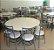 Conjunto com 1 Mesa e 8 Cadeiras - Mesas e Cadeiras para Restaurante - Imagem 1