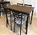 Conjunto com 1 Mesa e 4 Cadeiras - Mesas e Cadeiras para Restaurante REF 6000 - Imagem 1