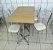 Conjunto com 1 Mesa e 2 Cadeiras - Mesas e Cadeiras para Restaurante REF 7040 - Imagem 1