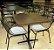 Conjunto com 1 Mesa e 2 Cadeiras - Mesas e Cadeiras para Restaurante REF 7060 - Imagem 1