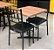 Conjunto com 1 Mesa e 2 Cadeiras - Mesas e Cadeiras para Restaurante REF 7100 - Imagem 1