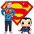 Conjunto Brandili Liga da Justiça Super Homem Licenciado DC Super Friends - Imagem 1