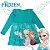 Brandili Vestido Infantil Frozen Licenciado Disney Baby Manga Longa, Anna, Elsa e Olaf - Imagem 1