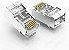 Conector Cabeça Cabo de Rede Ethernet Rj45 - Imagem 1
