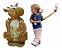 Mochila Coleira Segurança Guia Infantil Girafa Berhapy - Imagem 3