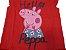 Conjunto Blusinha Vermelha Peppa Pig e Bermuda Listrada - Imagem 5