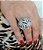 Anel de prata 925 recortado com zirconias  - Imagem 2