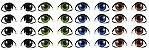 Adesivo de Olhos c/ Recorte Cód. TA 006 - Imagem 1