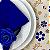 Guardanapo de Tecido Azul Royal Toque de Seda 32cmx32cm - 4 unidades - Imagem 1