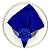 Guardanapo de Tecido Azul Royal Toque de Seda 32cmx32cm - 4 unidades - Imagem 2
