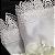Guardanapo de Tecido Branco Chic com Renda Guipir da Charlô 36cmx36cm (2 peças) - Imagem 3