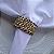 Guardanapo de Tecido Branco com Porta Guardanapo Trançado Dourado – 4 pessoas - Imagem 5