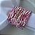 Guardanapo de Tecido Branco com Porta Guardanapo Trançado Rosa – 4 pessoas - Imagem 3
