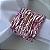 Guardanapo de Tecido Branco com Porta Guardanapo Trançado Rosa – 4 pessoas - Imagem 1