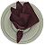 Guardanapo de Tecido Cálice Vinho Tinto Toque de Seda 32cmx32cm - 4 unidades - Imagem 1