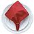 Guardanapo de Tecido Vermelho com Porta Guardanapo Hohoho – 4 pessoas - Imagem 2
