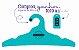 Promoção Comprou Ganhou: Cabide Personalizado com sua logo / Adulto / Color Face / CS104 -  Ganhe a Tag Color Face 1000 unidades personalizado - Imagem 3