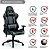 Cadeira Gamer Azul e Preta - Vo6 - 12x Sem Juros  - Imagem 4