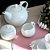 Conjunto de 03 peças para Café em Porcelana Birds Branco - Imagem 1