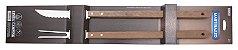 Jogo de Churrasco com cabo longo em madeira - 2 peças - Mart - Imagem 1