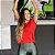 Camiseta Fitness Abertura Costas Vermelho 14054 - Imagem 1