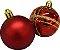 Yangzi Bola Mista Dourado/Vermelho 5CM C/ 12 Unidades - Imagem 1
